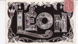 CARTE PRENOM LEON / CIRC 1907 - Firstnames