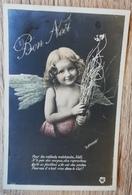 CPA FANTAISIE BON NOEL Enfant Avec Ailes D'Ange. LE NORMAND - Noël