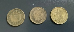 SPAGNA - ESPANA - 1953 E 1963 - 2 Monete 1 PESETA - [ 4] 1939-1947 : Gobierno Nacionalista