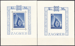 CROATIA 1942, TWO PERFORATED And IMPERFORATE MNH BLOCKS, *** - Croatie