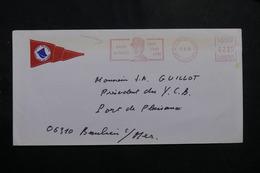FRANCE -  Oblitération Mécanique Sur Le Général De Gaulle Sur Enveloppe De St Jean Cap Ferrat En 1990 - L 55851 - 1961-....