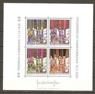Autriche 2000 - Hommage à F. Hundertwasser - Bloc MNH - BF17 - Blues En 4 Couleurs - Blocs & Feuillets