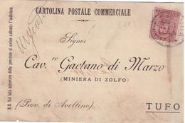Prata Sannita. 1899. Annullo Grande Cerchio PRATA SANNITA,  Su Cartolina Postale - 1878-00 Umberto I