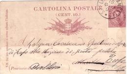 S. Felice A Cancello. 1891.  Annullo Grande Cerchio S. FELICE A CANCELLO,  Su Cartolina Postale - 1878-00 Umberto I