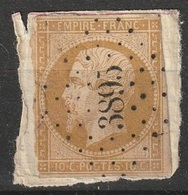 France 1853-60 N° 13A Napoléon Rare PC 3895 Thoard Basses-Alpes Filet Rognés Dans Trois Coins (F14) - 1853-1860 Napoléon III.