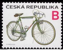 2020 : Po 1059 La Bicyclette Verte De FAVORIT Des Années 50 Bike Vélo - República Checa