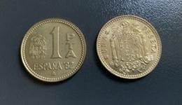SPAGNA - ESPANA - 1975 E 1980  - 2 Monete 1 PESETA , Mondiali Calcio - [ 4] 1939-1947 : Gobierno Nacionalista