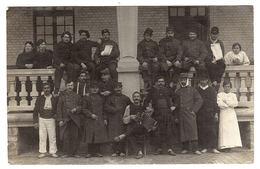 BERCK PLAGE (62) - CARTE PHOTO - GROUPE DE MILITAIRES BLESSÉS - 1915 - Berck