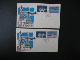FDC Nouvelles-Hébrides  1968  N° 276 à 279 - FDC