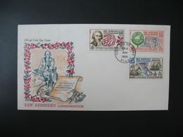 FDC Nouvelles-Hébrides  1968  N° 267 à 269 - FDC
