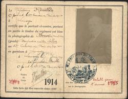 Guerre 14 Carte D'identité Militaire Brigadier Maître Sellier Cachet 12e Escadron Du Train Garnison à Limoges - WW I