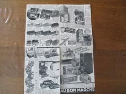 AU BON MARCHE  AVRIL 1936 POUR LE VOYAGE LE CAMPING LE TOURISME..... - Publicités
