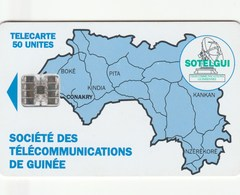 Guinea - Map Of Guinea 50 Un - Without Logo Moreno And Control Number - Guinea