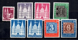 Allemagne/Bizone YT N° 61, N° 66/68 Et N° 76/78 Neufs ** MNH 1945/1949. TB. A Saisir! - American/British Zone