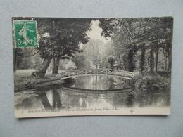 ENGHIEN LES BAINS (95 Val D Oise ) PONT DE L ORPHELINAT DE JEUNES FILLES  VOYAGEE 1913 - Enghien Les Bains