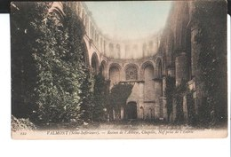 122. Valmont. Ruines De L'Abbaye, Chapelle, Nef Prise De L'Entrée. 1909. - Valmont