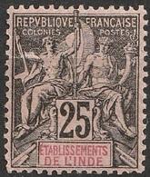 Etablissement De L'Inde 1892 N° 8 Faux De Fournier   (F20) - India (1892-1954)