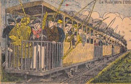 HUMOUR Humor - 60 La Ruée Vers L'OISE ( Train Chargé De Pêcheurs à La Ligne ) CPA Illustration Colorisée De G. VANACKENE - Humor