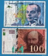 FRANCE LOT 50 FRANCS 1994 + 100 FRANCS 1997 - Kilowaar - Bankbiljetten