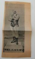 Article De Presse Noël Le Gaulois Rouveyrolis Lutteur Français Années 1900 Rétro - Wrestling