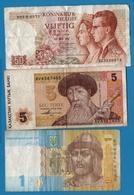LOT 3 X BILLETS BANKNOTES - Monnaies & Billets