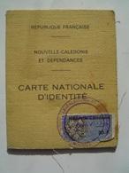 CARTE IDENTITE 1972 : NOUVELLE CALEDONIE ( FRANCE ) - Documents Historiques