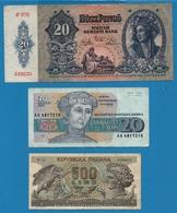 LOT 3 X BILLETS BANKNOTES - Coins & Banknotes