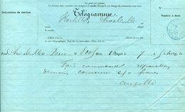 Ardennes. CHARLEVILLE. 1890. Télégramme - Storia Postale