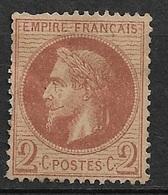 France      N° 26A  Neuf *   AB / 2ème Choix         ...... Soldé   à Moins De  5  %   ! ! ! - 1863-1870 Napoléon III. Laure