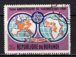 BURUNDI - 1969 - 5th Anniv. Of The Yaounde (Cameroun) Agreement - USATO - Burundi