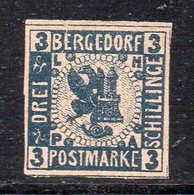 APR2626 - BERGEDORF 1861 , Unificato N. 6 Nuovo Senza Gomma (M2200) DIFETTOSO - Bergedorf