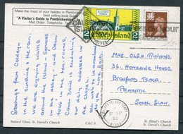 1992 GB Wales, Caldy Island Postcard. Tenby - Local Issues