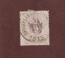 29 De 1869-78 - BELGIQUE - Oblitéré  -  Chiffre, Lion Couché - 8c. Lilas Pâle  - 2 Scannes - 1869-1888 Lying Lion
