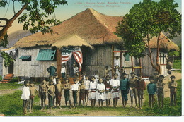 Mission School Mountain Province Tribe . American Mission. Flag . - Filippine
