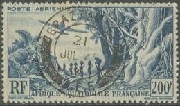 Afrique Equatoriale Française - Poste Aérienne N° 52 (YT) N° 52 (AM) Oblitéré De Brazzaville. - A.E.F. (1936-1958)