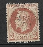 France      N° 26B    Oblitéré BTB       ...... Soldé   à Moins De  10  %   ! ! ! - 1863-1870 Napoleon III With Laurels