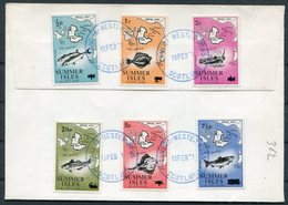 1971 GB Scotland, Summer Isles Fish Map Overprints First Day Cover. Postal Strike - Local Issues