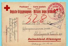 Postkaart Belgische Krijgsgevangenen, Afst. KORBEEK-LOO 28/11/1940 Naar STALAG VIII A + Stempel RODE KRUIS AFDELING ... - Guerre 40-45