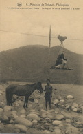 Missions De Scheut Belgium Nels . Missionnary Crossing The River . Boy And Horse Swimming - Filippine