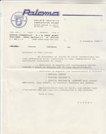 Lettre Commerciale PALOMA  8/11/1963 Cyclomoteurs Spécial Johnny,  Special Holiday's Confort Avec Guidon Type Harley - Advertising