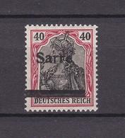 Saargebiet - 1920 - Michel Nr. 12 - Aufdruckabart - BPP Geprüft - Postfrisch - 1920-35 Saargebiet – Abstimmungsgebiet