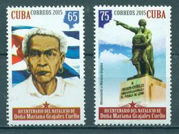 Cuba 2015 Dona Mariana Grajales Coello, 1808-1893  (MNH)  - Monuments, Flags, Women, Famous Women, Jose Marti - Vlag