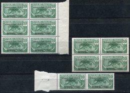 OUBANGUI N°47 ** PANTHERE UN BLOC DE 6 + UN BLOC DE 4 + UNE PAIRE - Unused Stamps