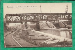 Mennessis (02) Les écluses Et Le Pont Du Canal 2scans Rail Carte Animée - Other Municipalities