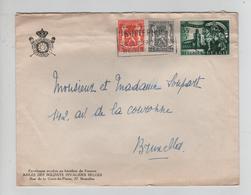 REF505/ TP 632 Surtaxe Secours D'hivers -419-527 S/L.Soldats Invalides Belges C.Antwerpen 9/4/1944 > BXL - Briefe U. Dokumente
