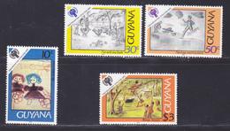 GUYANE N°  546 à 549 ** MNH Neufs Sans Charnière, TB, Année De L'enfant UNICEF 1979 (D9131) - Guyana (1966-...)