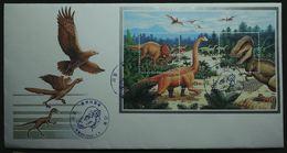 FDC Dinosaures Animaux Préhistoriques (styracosaurus, Saltasaurus,Tyrannosaurus) DPR Korea / Corée Du Nord - Korea (Nord-)