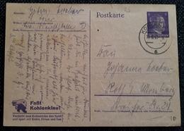 DR 1943, Postkarte P312/02 Faßt Kohleklau KOBLENZ - Allemagne