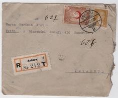 TURQUIE,TURKEI TURKEY ANKARA TO ISTANBUL 1935 COVER - 1921-... Republiek