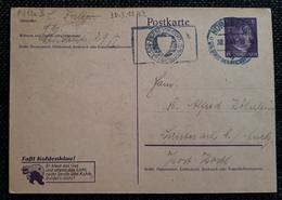 DR 1943, Postkarte P312/02 Faßt Kohleklau NÜRNBERG - Allemagne